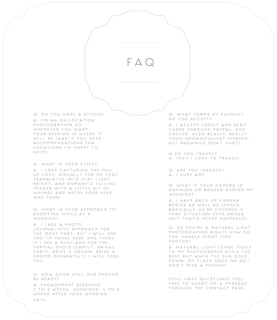 FAQ Background with FAQ -